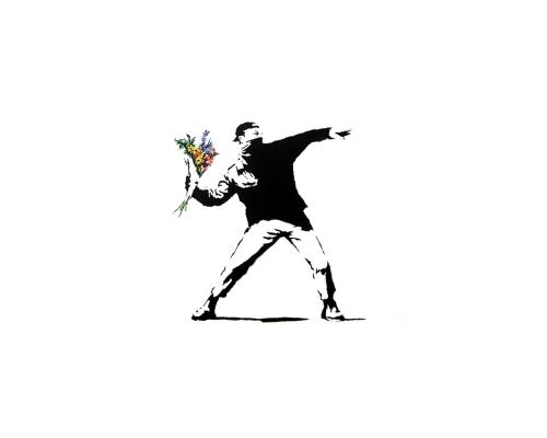 Banksy Flower Rage